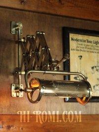 画像1: 真鍮製ダブルシザーアームランプ|インダストリアル二重蛇腹式ウォールライト|Hi-Romi.com 完全オリジナル照明