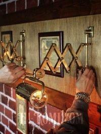 画像3: 真鍮製ダブルシザーアームランプ|インダストリアル二重蛇腹式ウォールライト|Hi-Romi.com 完全オリジナル照明