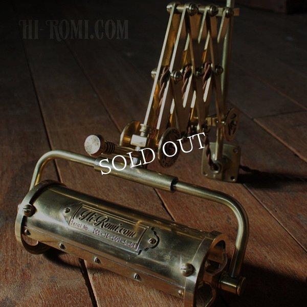 画像1: 真鍮製ダブルシザーアームランプ|インダストリアル二重蛇腹式ウォールライト|Hi-Romi.com 完全オリジナル照明 (1)