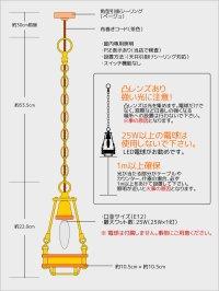 画像3: 【数量限定照明】ケージ&レンズ付真鍮製工業系ペンダントライト
