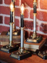 画像1: 工業系卓上照明|インダストリアル黒キャンドルテーブルライト|Hi-Romi.com 完全オリジナル照明