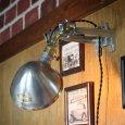 画像10: 工業系壁掛け照明|インダストリアルブラケットライトドラムパーツ&ラウンドシェード付 (10)