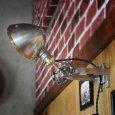 画像15: 工業系壁掛け照明|インダストリアルブラケットライトドラムパーツ&ラウンドシェード付 (15)