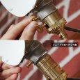 画像12: 工業系壁掛け照明|インダストリアルブラケットライトドラムパーツ&ラウンドシェード付 (12)