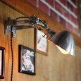 画像9: 工業系壁掛け照明|インダストリアルブラケットライトドラムパーツ&ラウンドシェード付 (9)