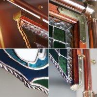 画像2: ステンドグラスCAFEカフェサイン屋内看板照明|アンティーク&インダストリアル工業系サインライト看板ランプ