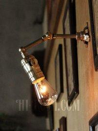 画像2: LEVITON社製真鍮ソケット&角度調整付きミニブラケット/インダストリアル工業系ウォールランプ壁面照明