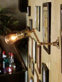 画像3: LEVITON社製真鍮ソケット&角度調整付きミニブラケット/インダストリアル工業系ウォールランプ壁面照明
