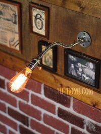 画像1: 工業系グースネックフレキシブルアームブラケットライト照明