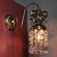 画像1: USAヴィンテージヴィクトリアン調ミニシャンデリアブラケットライト|アンティーク壁掛け照明ウォールランプ