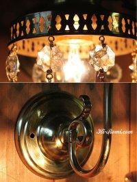 画像3: ダブルカットティアドロッププリズムブラケットライト|壁掛照明