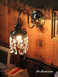 画像2: ダブルカットティアドロッププリズムブラケットライト|壁掛照明