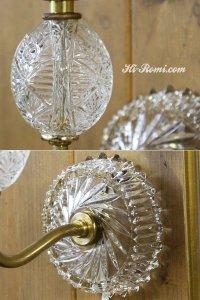 画像3: ヴィンテージ幾何学模様ガラス製ブラケットライト 鍵付壁掛照明