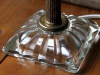 画像2: ヴィンテージ鍵付きMETEORファットボーイソケットガラスベースのテーブルランプ/アンティーク照明ライト
