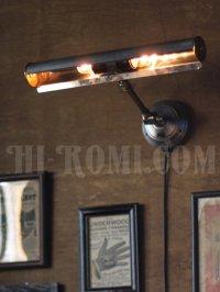画像3: ヴィンテージ工業系2灯角度調整付ウォールブラケット・壁掛ピクチャーライト/アンティーク照明