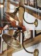 画像2:  ヴィンテージ工業系スワンネック真鍮製ブラケットライト (2)