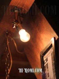 画像2: USAヴィンテージ工業系角度調整付壁掛ライトA/アンティークアトリエ照明