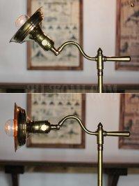 画像3: 工業系卓上照明|スウィングアーム&角度調整真鍮テーブルライト