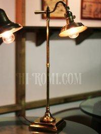 画像1: 工業系卓上照明|スウィングアーム&角度調整真鍮テーブルライト