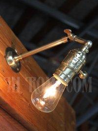 画像2: ヴィンテージ工業系LEVITON角度調整付き真鍮ブラケット/アンティーク照明インダストリアルウォールランプ