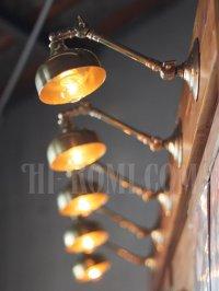 画像2: ヴィンテージ工業系2点角度調整付きキーレス真鍮ブラケットA/アンティーク照明インダストリアルウォールランプ