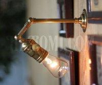 画像2: 工業系ミニ角度調整付き真鍮ブラケット/インダストリアルウォールランプ/壁掛け照明