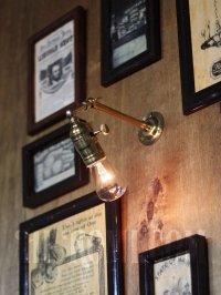 画像3: 工業系ミニ角度調整付き真鍮ブラケット/インダストリアルウォールランプ/壁掛け照明
