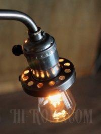 画像2: ヴィンテージスウィングアームアルミソケット&ギャラリー付ブラケットA/アンティーク照明コンビカラー工業系ランプ