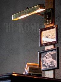 画像2: ヴィンテージ工業系角度調整可能2灯ターンスイッチ付ピクチャーライト/アンティークランプ照明