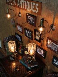 画像2: USAヴィンテージ真鍮製花形カップ付きコロニアルブラケットA/アンティークヴィクトリアン照明壁掛ランプ