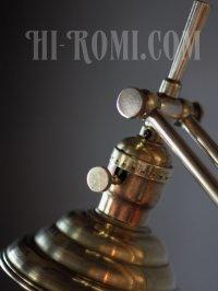 画像2: USAヴィンテージ真鍮製シェード&角度調整付きダブルアームブラケットランプ