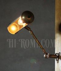 画像2: USAヴィンテージ真鍮製2点角度調整付きピクチャーライト/インダストリアル壁掛け照明ブラケット工業系アンティークライト