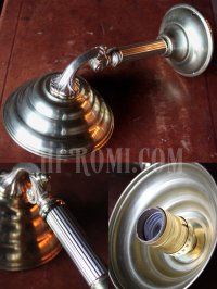 画像2: ヴィンテージビーハイブシェード真鍮製コロニアルブラケットA/ヴィクトリアンウォールランプ/壁掛け照明
