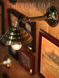画像3: ヴィンテージビーハイブシェード真鍮製コロニアルブラケットA/ヴィクトリアンウォールランプ/壁掛け照明