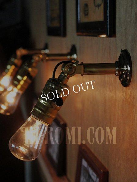 画像1: LEVITON社製アルミソケット&角度調整付ミニブラケット/アンティーク工業系照明壁掛ランプ (1)