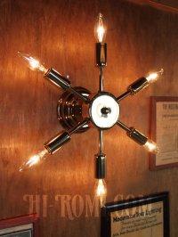 画像2: USAヴィンテージスプートニク6灯ブラケットA/ミッドセンチュリー50's60'sインダストリアル工業系ウォールランプ照明ライト