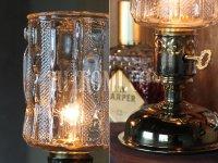 画像3: USAヴィンテージアイスグラスシェード&鍵スイッチ付きテーブルランプA/アンティークミッドセンチュリー照明卓上ランプ