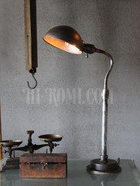 画像1: インダストリアル 卓上照明|シェード付グースネックテーブルライト