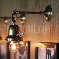 画像2: 工業系鍵&チェーン付ベル型シェードホルダー真鍮ブラケットA