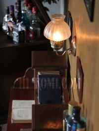 画像2: ヴィンテージコロニアルくもりガラスチムニーシェードのブラケットランプ/火屋ハリケーンヴィクトリアン壁照明