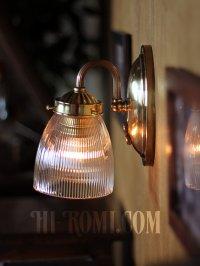 画像2: ヴィンテージコロニアルホルフェン調ガラスシェードミニブラケットランプ/ヴィクトリアン工業系壁照明