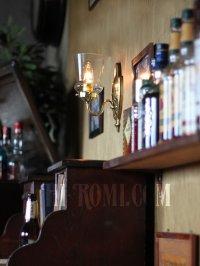 画像2: ヴィンテージコロニアルクリアガラスチムニーシェードブラケットランプ/ヴィクトリアンハリケーン壁照明