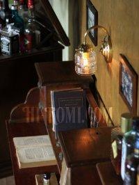 画像3: ヴィンテージコロニアルクリアガラスビーハイブシェード真鍮ブラケットランプ/ヴィクトリアン壁照明