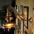 画像1: LEVITON社製真鍮ソケット付きインダストリアル3点角度調整&シェード付きブラケットランプA/アメリカン作業灯ランプ壁掛照明ウォールライト  (1)