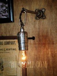 画像2: チェーンリング付LEVITON社製ターン式ソケット工業系ウォールランプ兼用ペンダントライト/アンティーク照明ブラケット