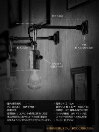 画像1: チェーンリング付LEVITON社製ターン式ソケット工業系ウォールランプ兼用ペンダントライト/アンティーク照明ブラケット