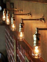 画像3: USAヴィンテージLEVITON社製ターン式ソケット付工業系真鍮ミニブラケットランプA/インダストリアル照明壁掛けライト