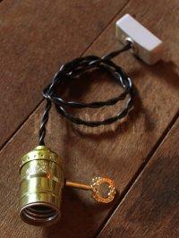 画像2: LEVITON社製鍵スイッチ付アルミ製ソケットペンダントライト