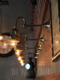 画像3: 鍵スイッチ付き真鍮レースのベル型カップブラケットランプB