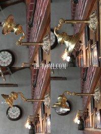 画像3: 角度調整付ヴィクトリアン真鍮ブラケット照明|アメリカンライト